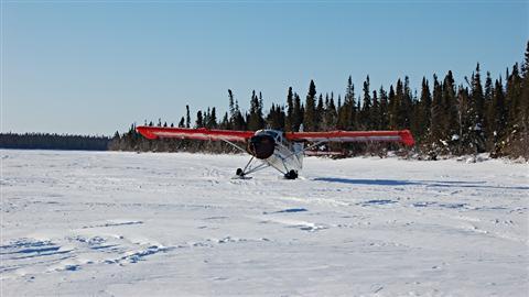 Un avion de brousse. (Thomas Gerbet/Radio-Canada)