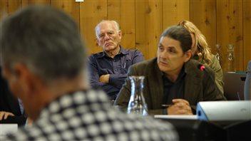 André Bourcier de l'Association franco-yukonnaise a soulevé l'importance de ne pas confondre bilinguisme et droit constitutionnel de vivre dans la langue officielle de son choix. (CLAUDIANE SAMSON / RADIO-CANADA)