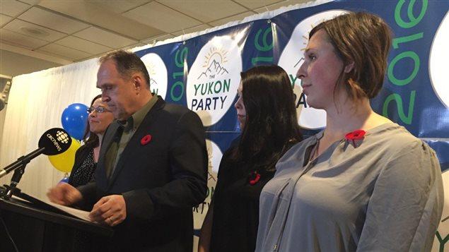 Le chef du Parti du Yukon, Darrell Pasloski, a donné sa démission le lundi 7 novembre 2016. (David Croft/CBC)
