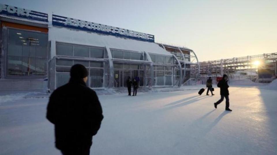 L'aéroport de Sabetta. (Alex Sergeev/Radio-Canada)