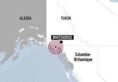 Série de tremblements de terre dans le nord-ouest canadien