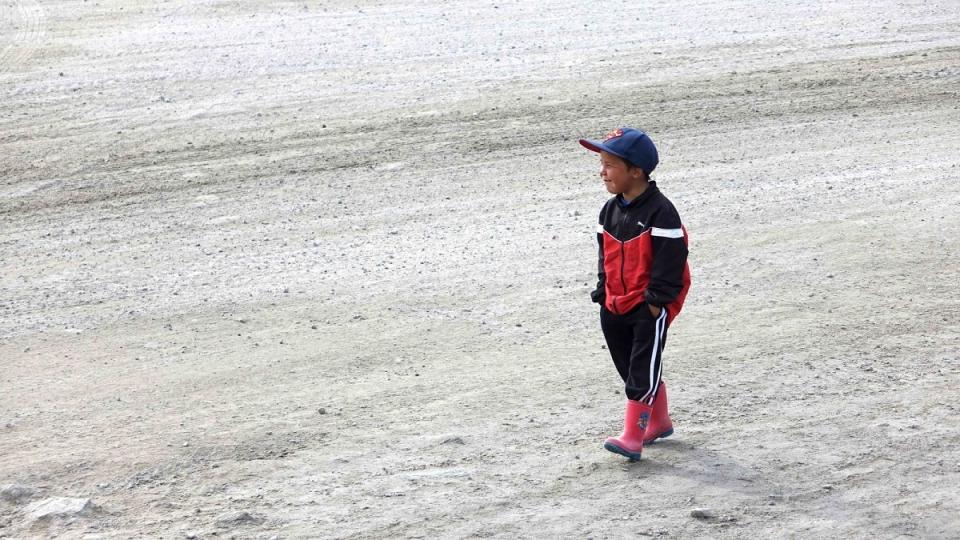 Un enfant de Clyde River, au Nunavut. (Marie-Laure Josselin/Radio-Canada)