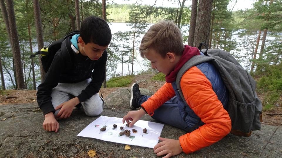 Les études démontrent que les activités physiques en plein air contribuent au développement des aptitudes sociales des élèves et favorisent le travail en équipe. (Jean-François Bélanger/Radio-Canada)