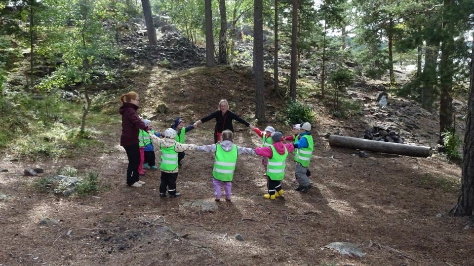 Les enfants de la garderie Kotilo d'Espoo (Jean-François Bélanger/Radio-Canada)