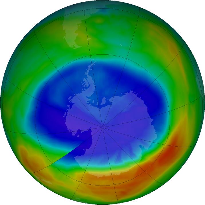 Un plus petit trou de la couche d ozone en antarctique quelle est la situation en arctique - Trou de la couche d ozone ...