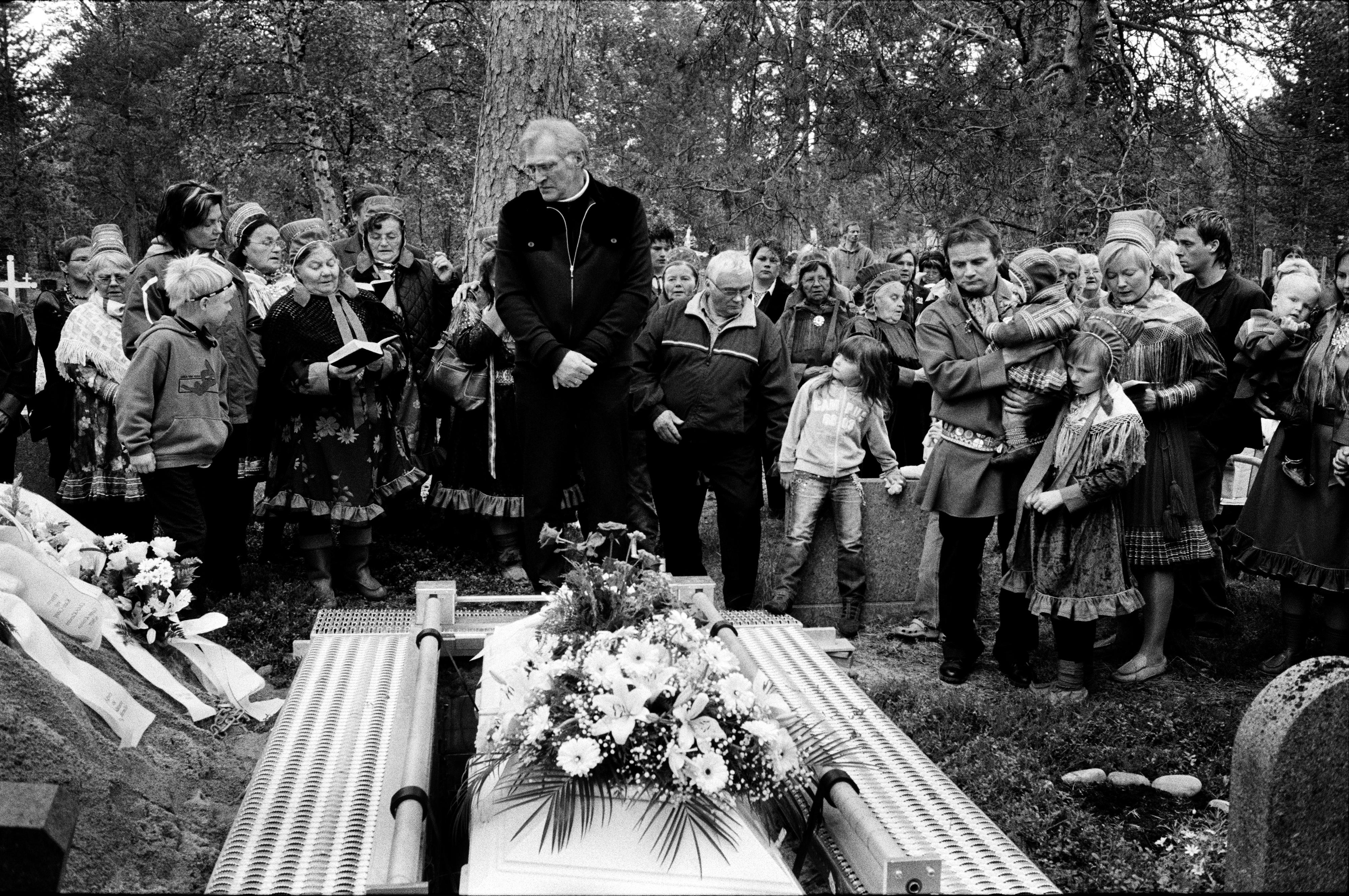 Les funérailles de Mathis Somby (courtoisie de Fred Ivar Utsi Klemetsen)