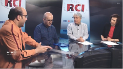 اسرة القسم العربي وضيف برنامج بلا حدود أحمد عيسيوي في 22-03-2019/RCI