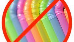 禁止塑料吸管标志。